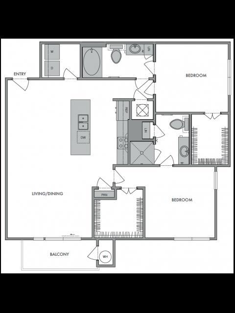 1,182 sq. ft. F floor plan