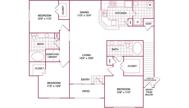 1,506 sq. ft. L2 GAR floor plan