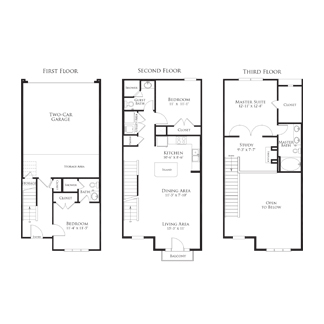 1,535 sq. ft. 2THC1.2GG floor plan