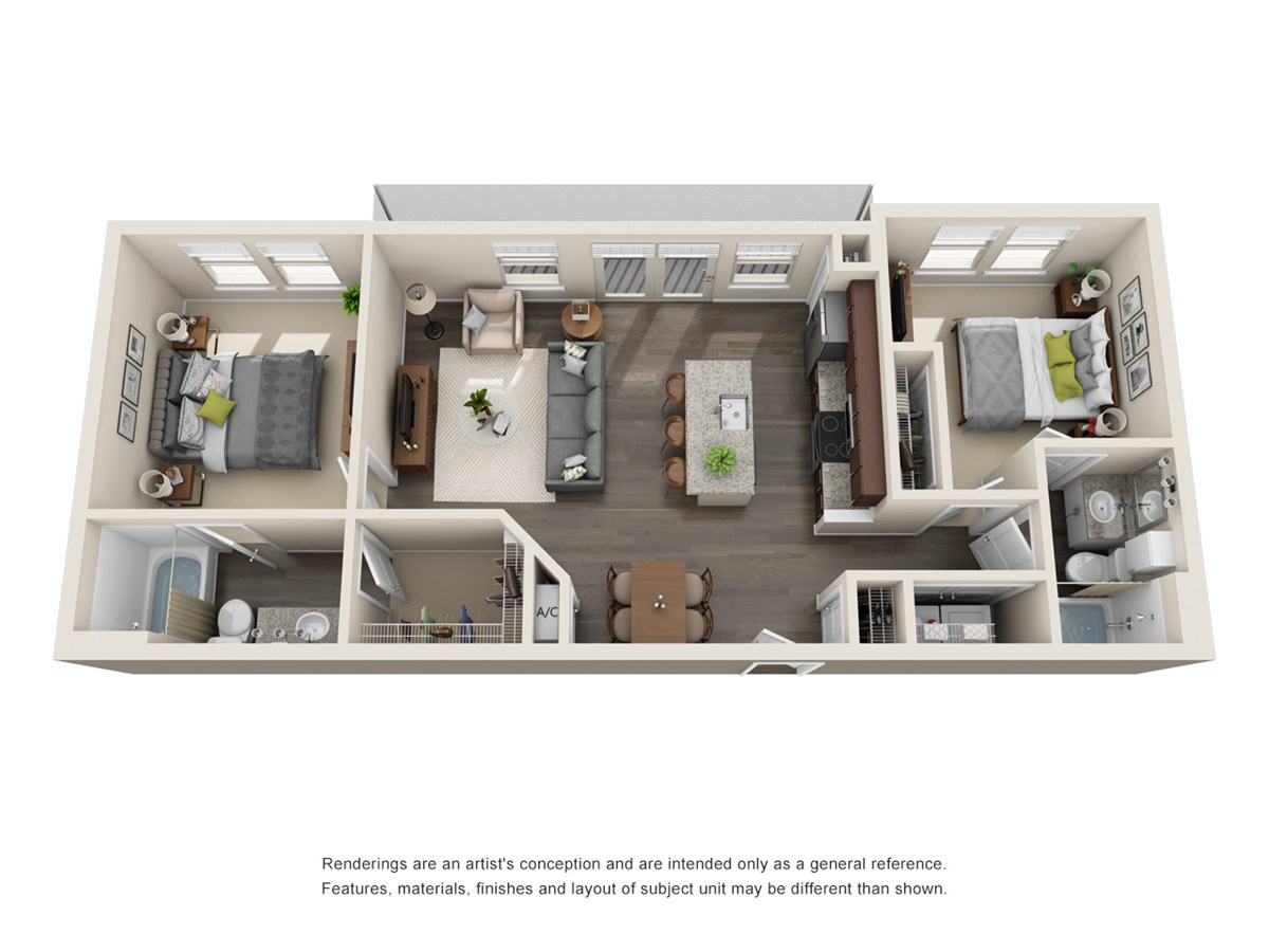 970 sq. ft. to 971 sq. ft. B1 floor plan