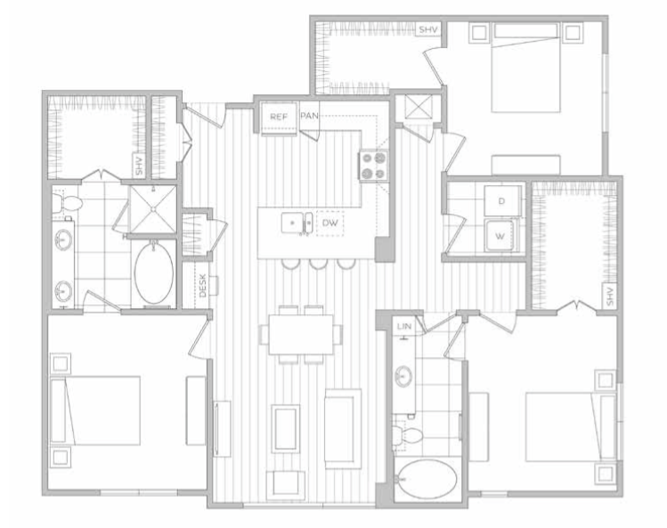 1,476 sq. ft. M floor plan