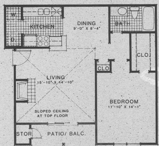 751 sq. ft. A7 floor plan