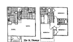 1,595 sq. ft. ST. THOMAS floor plan