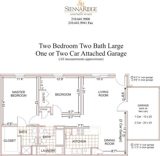 1,050 sq. ft. to 1,450 sq. ft. Mirsan floor plan