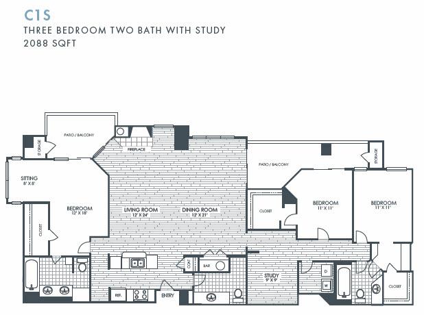2,088 sq. ft. C1S floor plan
