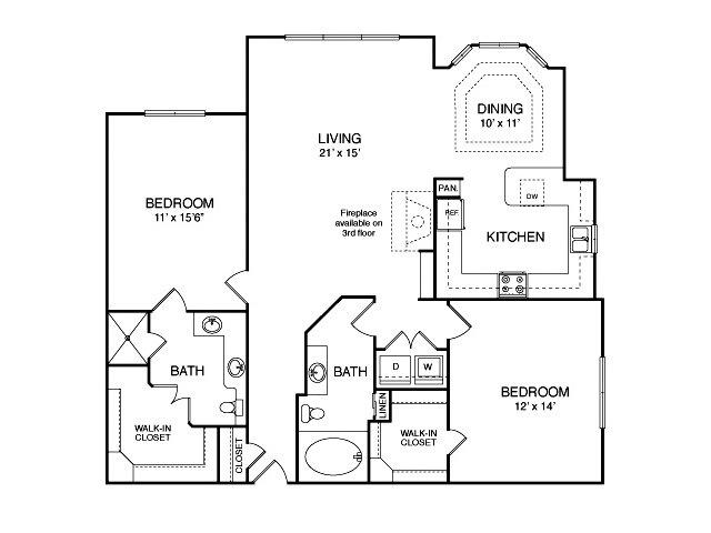 1,331 sq. ft. B9 floor plan