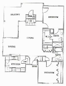 1,095 sq. ft. B3-Mendocino floor plan