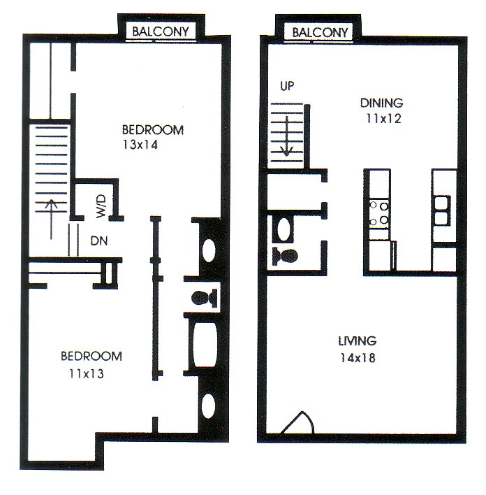 1,209 sq. ft. I floor plan