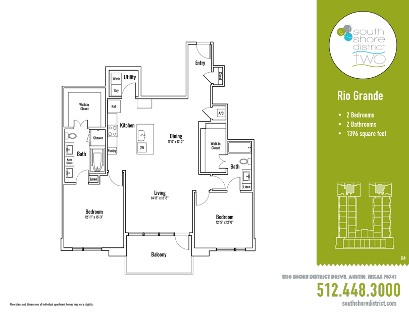 1,396 sq. ft. Rio Grande floor plan