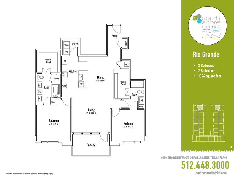 1,396 sq. ft. Rio Grande floor plan