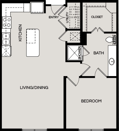866 sq. ft. A2.3 floor plan