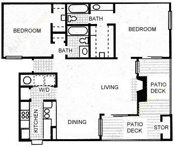 1,086 sq. ft. RIO GRANDE floor plan