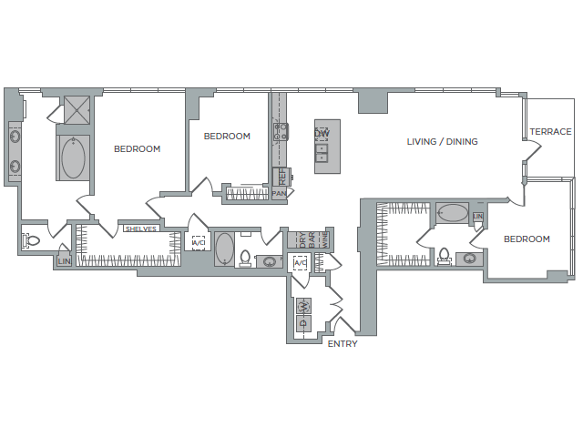 2,197 sq. ft. 3B floor plan