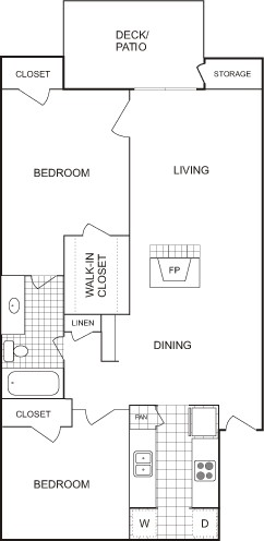 900 sq. ft. LOFT floor plan