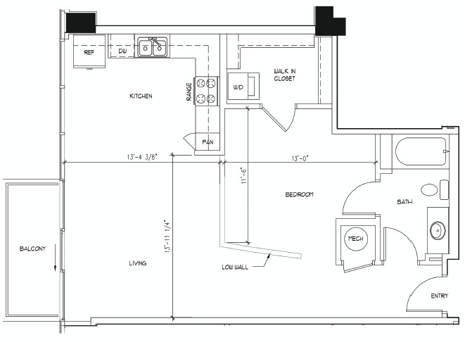 757 sq. ft. floor plan