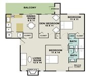 1,122 sq. ft. Nautica floor plan