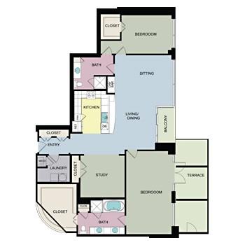 2,174 sq. ft. J floor plan