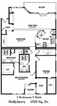 1,520 sq. ft. B5 floor plan