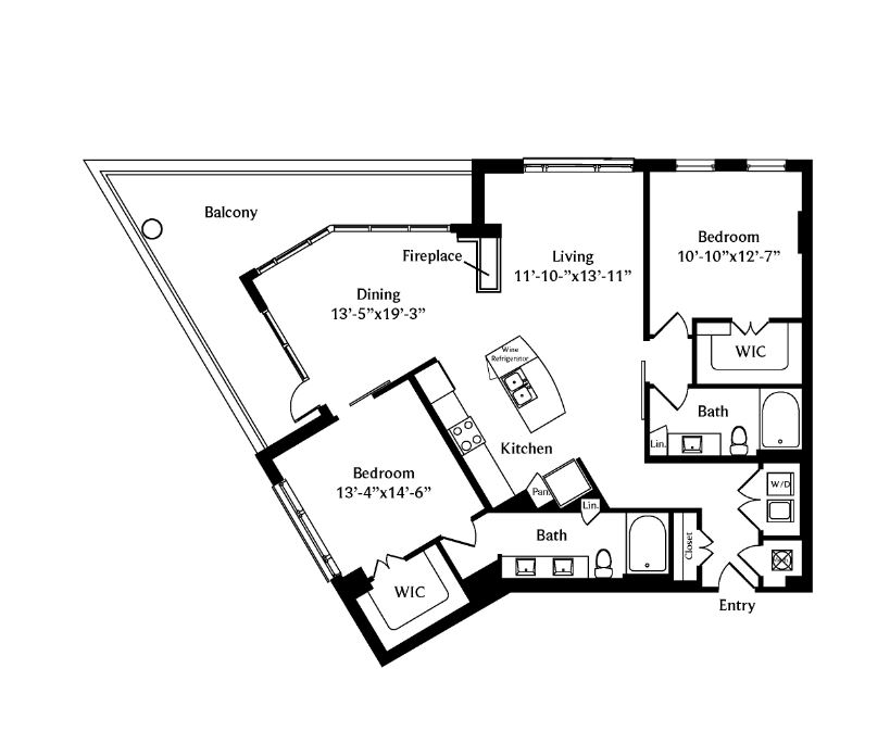 1,415 sq. ft. B3 floor plan