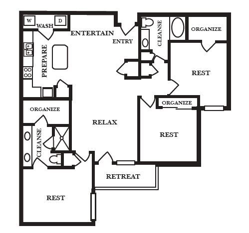 1,425 sq. ft. G floor plan