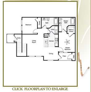 920 sq. ft. Magnolia/60% floor plan