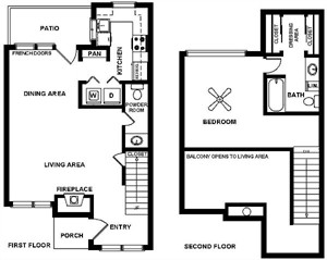 1,000 sq. ft. A floor plan