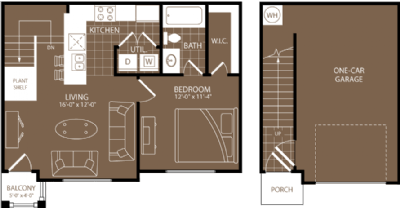 743 sq. ft. Lagos floor plan
