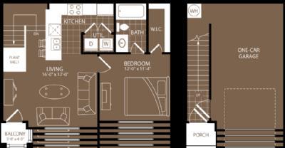 743 sq. ft. Lagos floor plan
