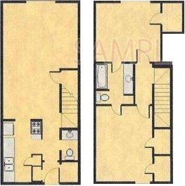 1,085 sq. ft. C floor plan