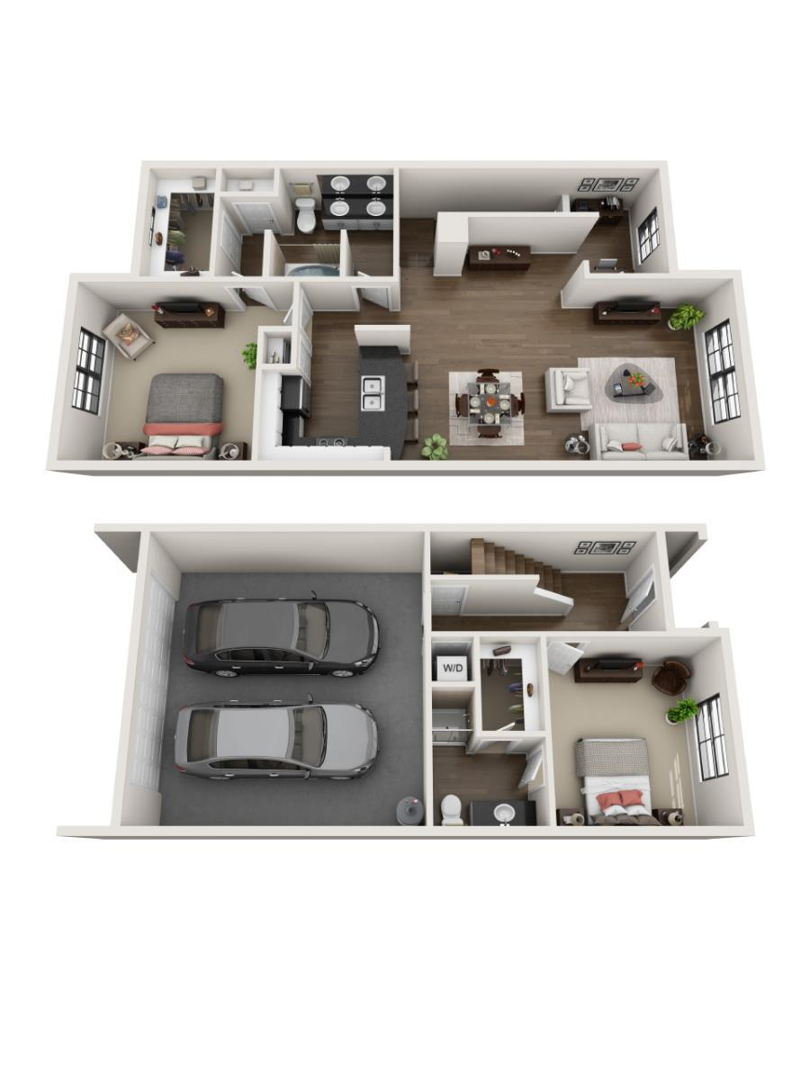 1,349 sq. ft. to 1,375 sq. ft. Keystone floor plan
