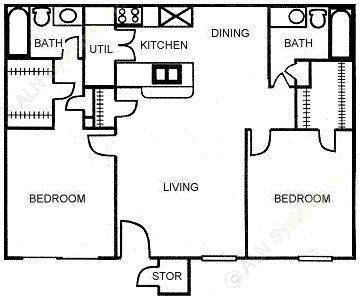 867 sq. ft. C floor plan