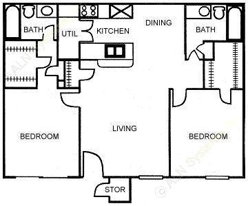 867 sq. ft. C floor plan
