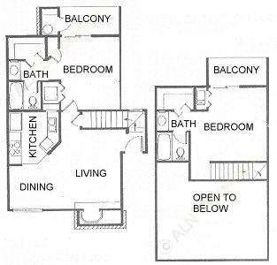 935 sq. ft. B2 floor plan