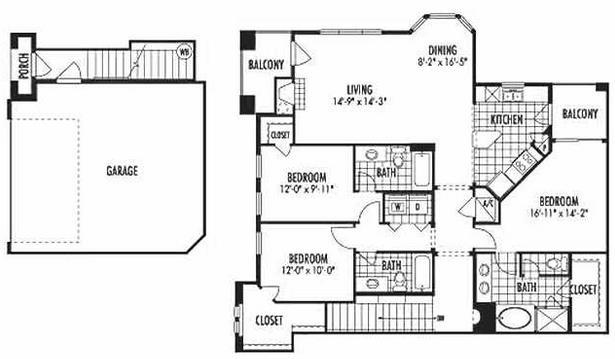 1,680 sq. ft. C4 floor plan