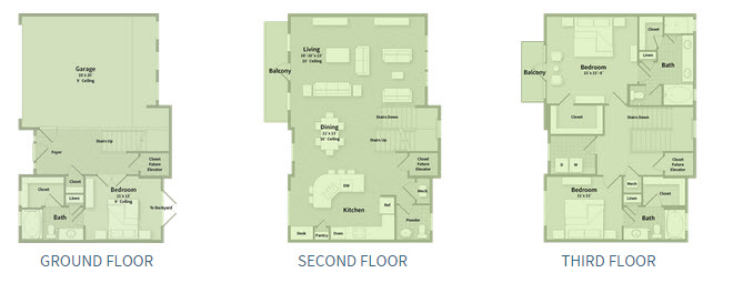 2,611 sq. ft. T2E floor plan