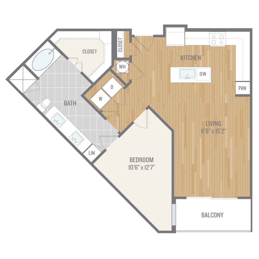 875 sq. ft. A10.1 floor plan