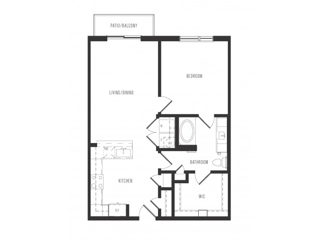797 sq. ft. A2.1 floor plan