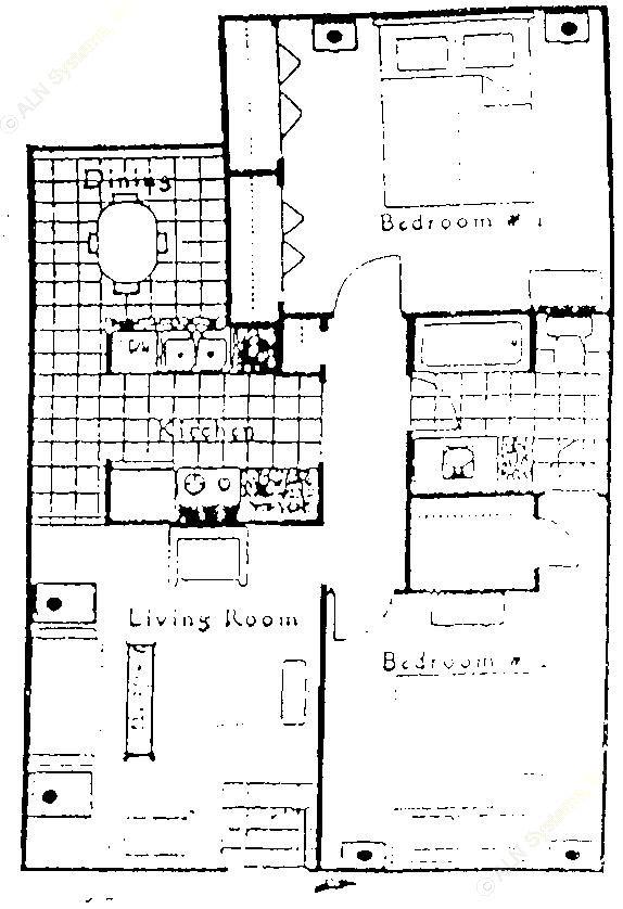 893 sq. ft. floor plan