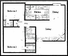 765 sq. ft. floor plan