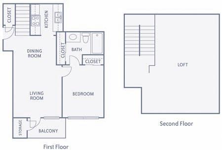 783 sq. ft. A11 floor plan