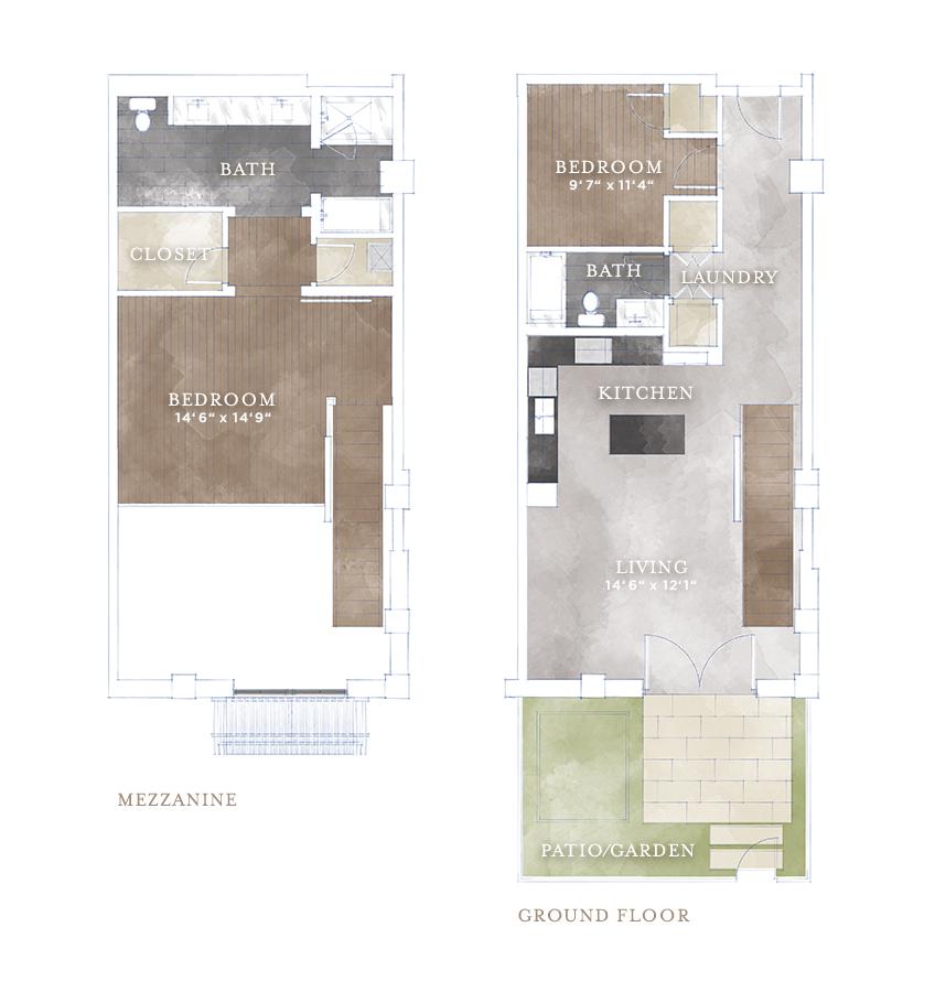 1,417 sq. ft. L7 floor plan