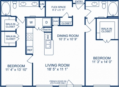 1,303 sq. ft. TUCSON floor plan
