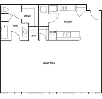 817 sq. ft. floor plan