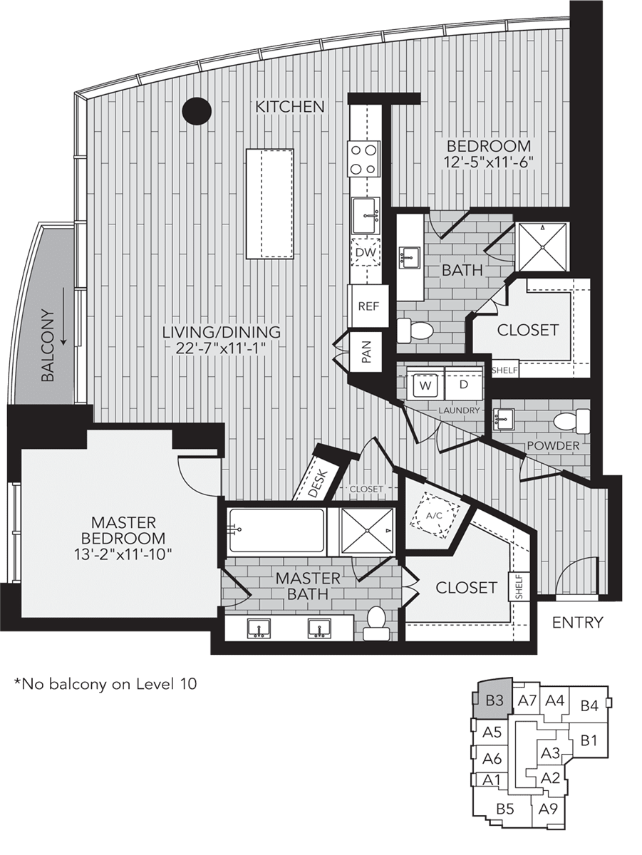 1,495 sq. ft. B3 floor plan