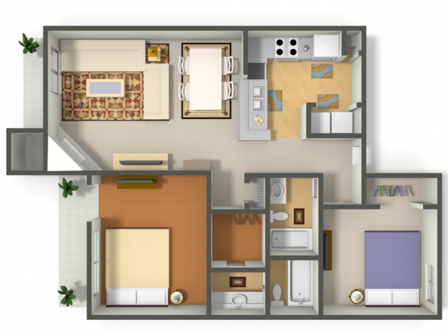 1,150 sq. ft. Condor floor plan