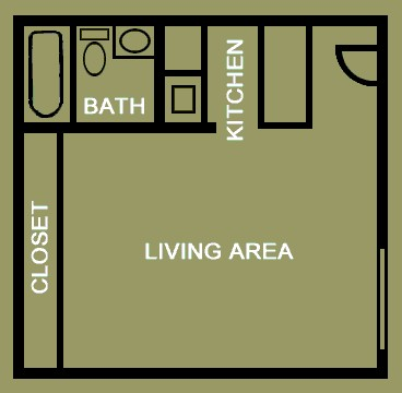 421 sq. ft. floor plan