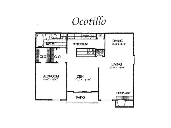 827 sq. ft. II A4 floor plan