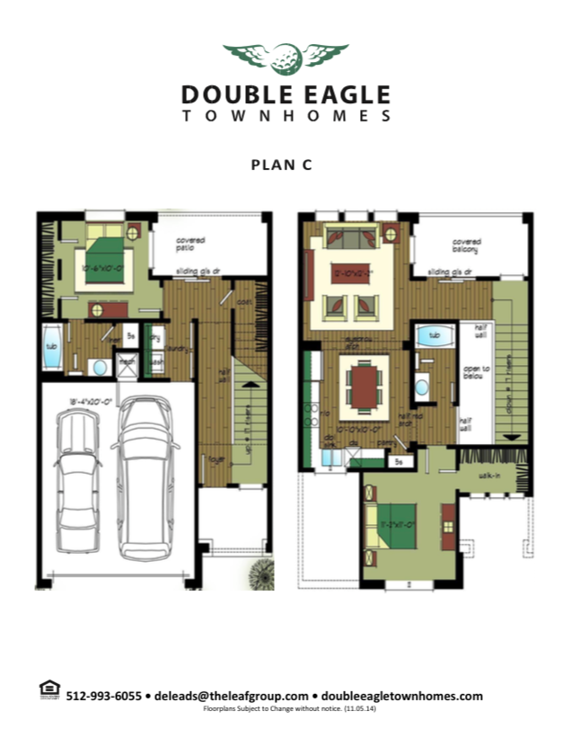 1,448 sq. ft. Plan A floor plan