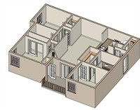 1,270 sq. ft. Saratoga floor plan