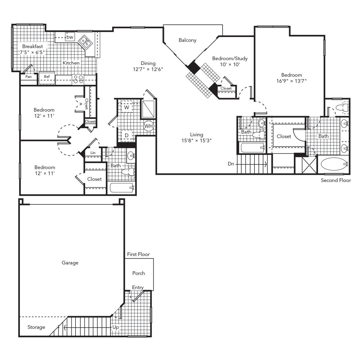 1,820 sq. ft. Tranquil 2 floor plan